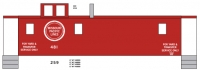 Mask Island Decal 87-300 Caboose MP Road, Yard & Transfer