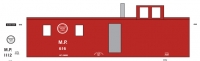 Mask Island Decal 87-301 Caboose MP 616 and 1112 Series