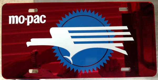 "Custom Vehicle ""License"" Plate - MoPac Caboose Red"