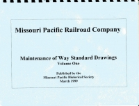 Missouri Pacific Railroad Company - Maintainence of Way Standard Drawings, Two Volume Set- SALE