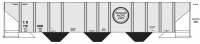 Mask Island Decal 87-303 TP 75088 series Covered Hopper